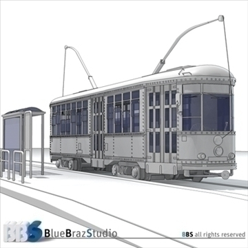 san francisco tramway 3d model 3ds dxf c4d obj 104281