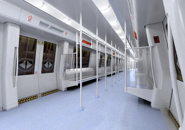 subway train interior 3d model 3ds max obj 125260