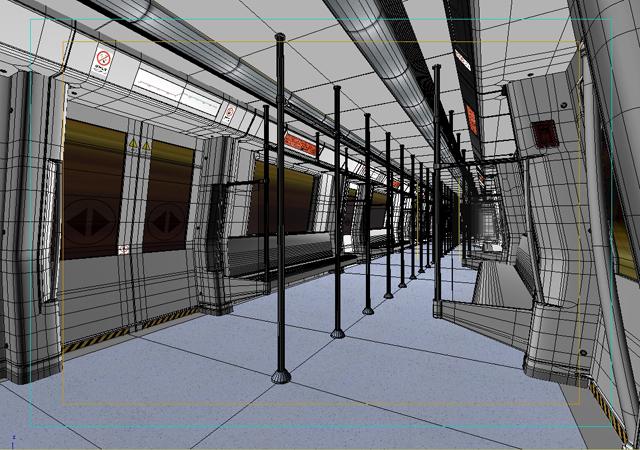 subway train interior 3d model 3ds max obj 125261