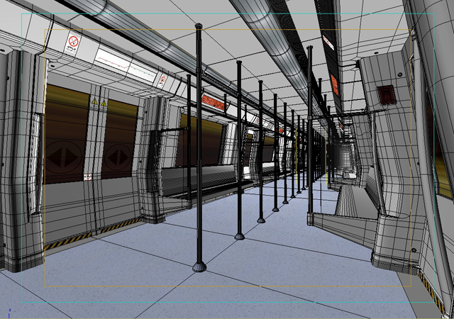 metro vilciena interjers 3d modelis 3ds max obj 125261