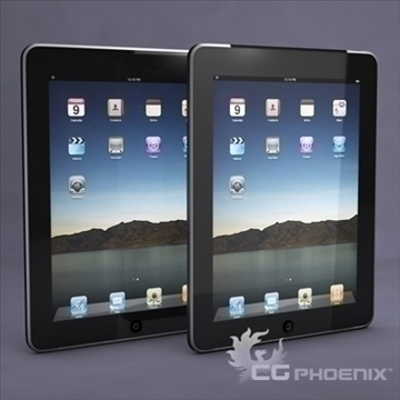 Apple ipad 3d модел 3ds dxf fbx c4d x obj 104446