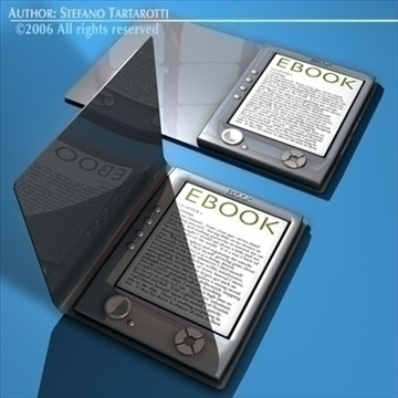 eBook 3d model 3ds dxf c4d obj 81218