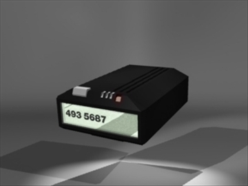model 1 3d pager 3ds dxf lwo 81122