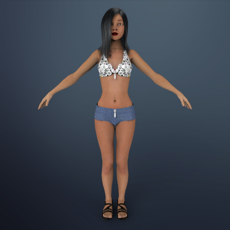 seksīga meitene shuzi 3d modelis 3ds max fbx ma mb obj 164270
