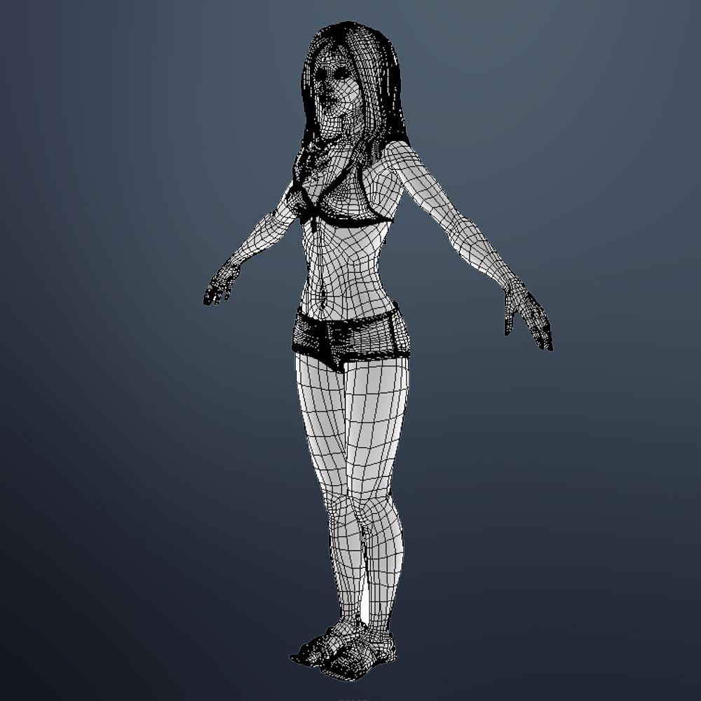 seksīga meitene shuzi 3d modelis 3ds max fbx ma mb obj 164276