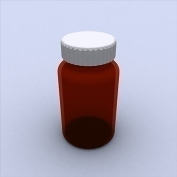 pill bottle 3d model 3ds max 98216
