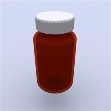 pill bottle 3d model 3ds max 98217