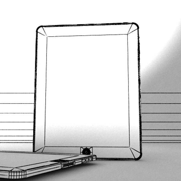 3D Model Apple iPhone 4 & iPad High Detail Realist ( 37.3KB jpg by VKModels )