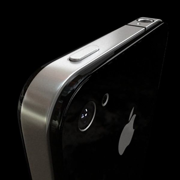 3D Model Apple iPhone 4 High Detail Realistic ( 28.6KB jpg by VKModels )