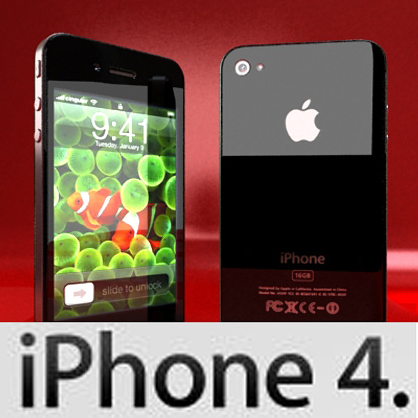 apple iphone 4 high detail realistic 3d model 3ds max fbx obj 129635