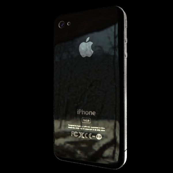 iphone iphone 4 ardleibhéal samhail réadúil 3d 3ds max fbx obj 129641