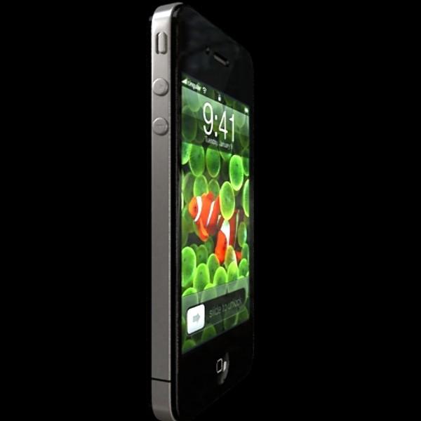 iphone iphone 4 ardleibhéal samhail réadúil 3d 3ds max fbx obj 129644