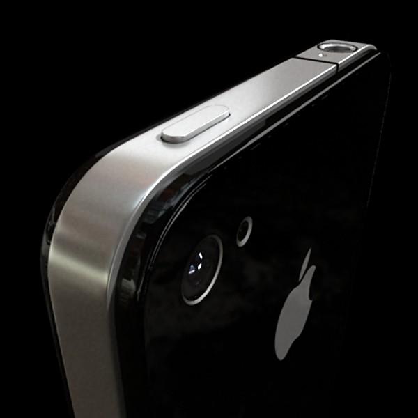 јаболко iPhone 4 висок детаљ реален 3d модел 3ds макс fbx obj 129646