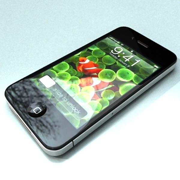 iphone iphone 4 ardleibhéal samhail réadúil 3d 3ds max fbx obj 129649