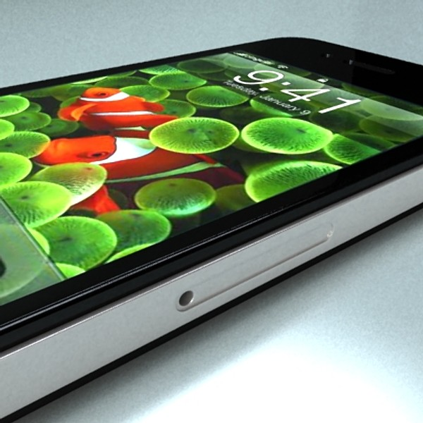 iphone iphone 4 ardleibhéal samhail réadúil 3d 3ds max fbx obj 129650