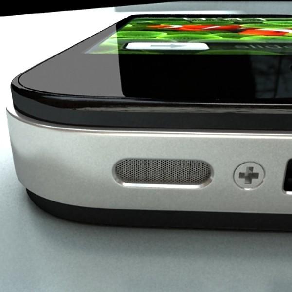 јаболко iPhone 4 висок детаљ реален 3d модел 3ds макс fbx obj 129652