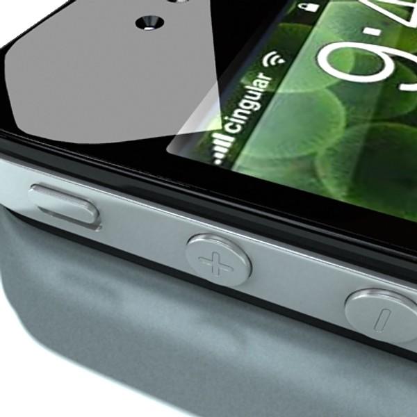 iphone iphone 4 ardleibhéal samhail réadúil 3d 3ds max fbx obj 129653
