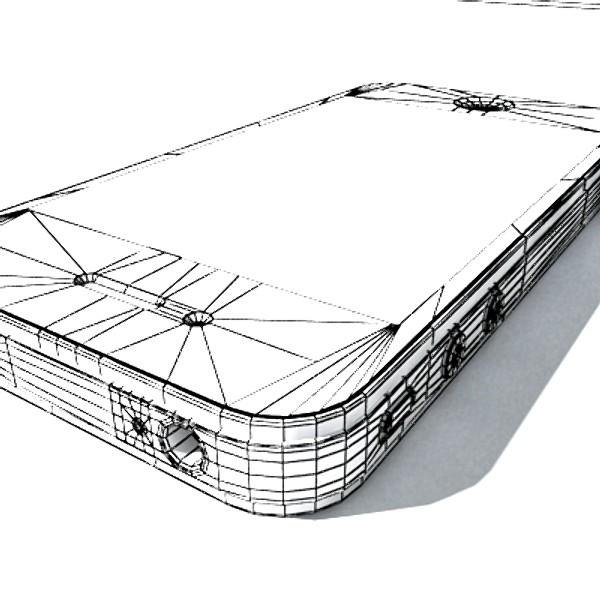 Apple iphone 4 yüksək ətraflı real 3d model 3ds max fbx obj 129656