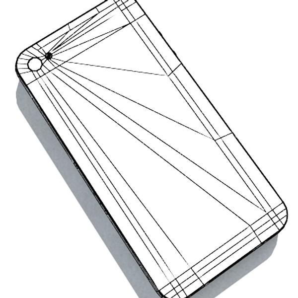 iphone iphone 4 ardleibhéal samhail réadúil 3d 3ds max fbx obj 129658