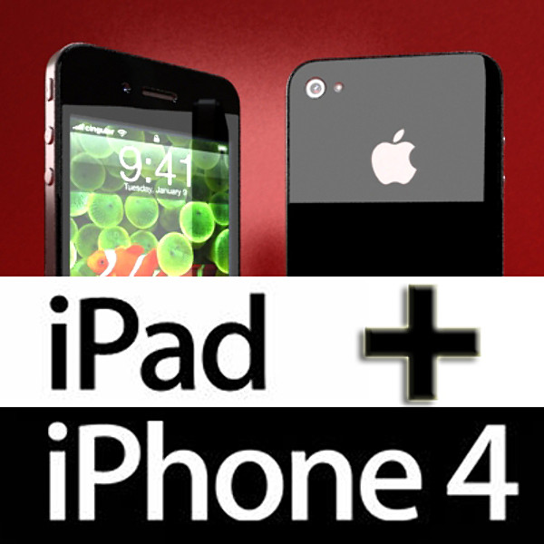 apple iphone 4 & ipad high detail realistlik 3d mudel 3ds max fbx obj 129676