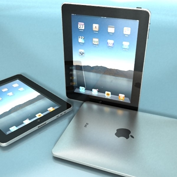 apple iphone 4 & ipad high detail realist 3d model 3ds max fbx obj 129678