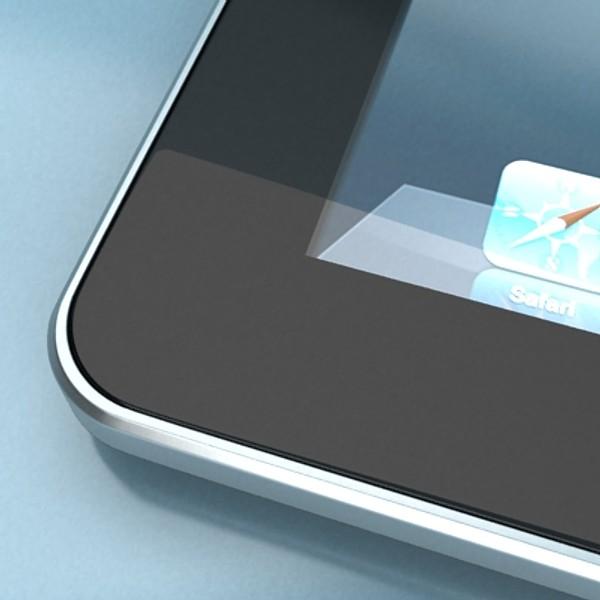 apple iphone 4 & ipad high detail realist 3d model 3ds max fbx obj 129686