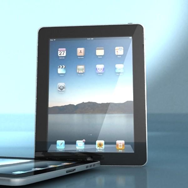 apple iphone 4 & ipad high detail realist 3d model 3ds max fbx obj 129687