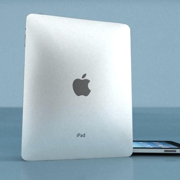 apple iphone 4 & ipad high detail realist 3d model 3ds max fbx obj 129688