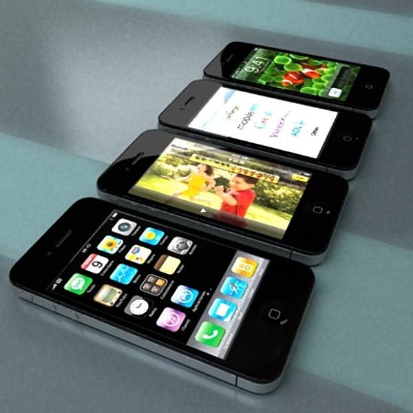 Apple iphone 4 və ipad yüksək ətraflı realist 3d model 3ds max fbx obj 129694