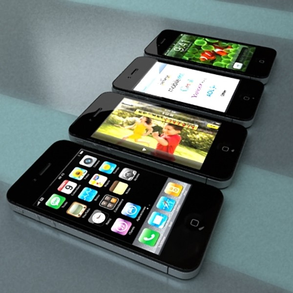 apple iphone 4 & ipad high detail realist 3d model 3ds max fbx obj 129694