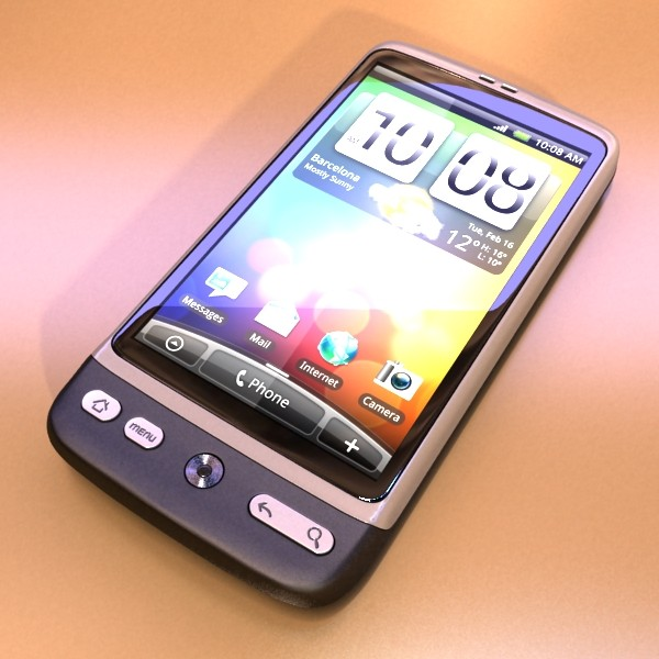 htc desire photorealistic high detail 3d model max obj 129620