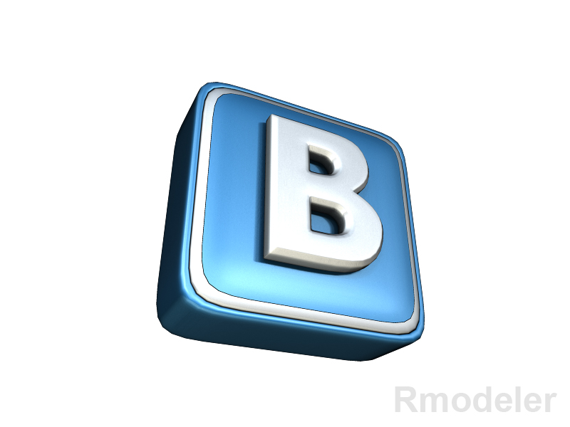 vkontakte letter 3d logo 3d model dae ma mb 118838