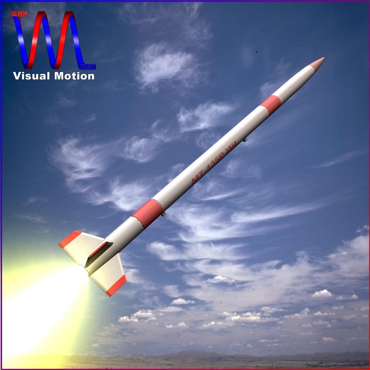 Japanese MT-135 Rocket 3d model 3ds dxf fbx blend cob dae X  obj 158748
