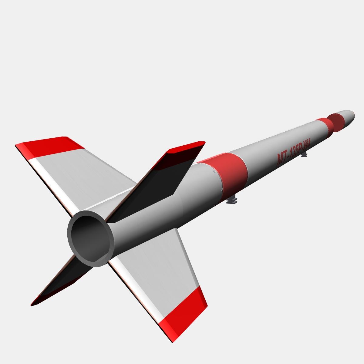 Japanese MT-135 Rocket 3d model 3ds dxf fbx blend cob dae X  obj 158751