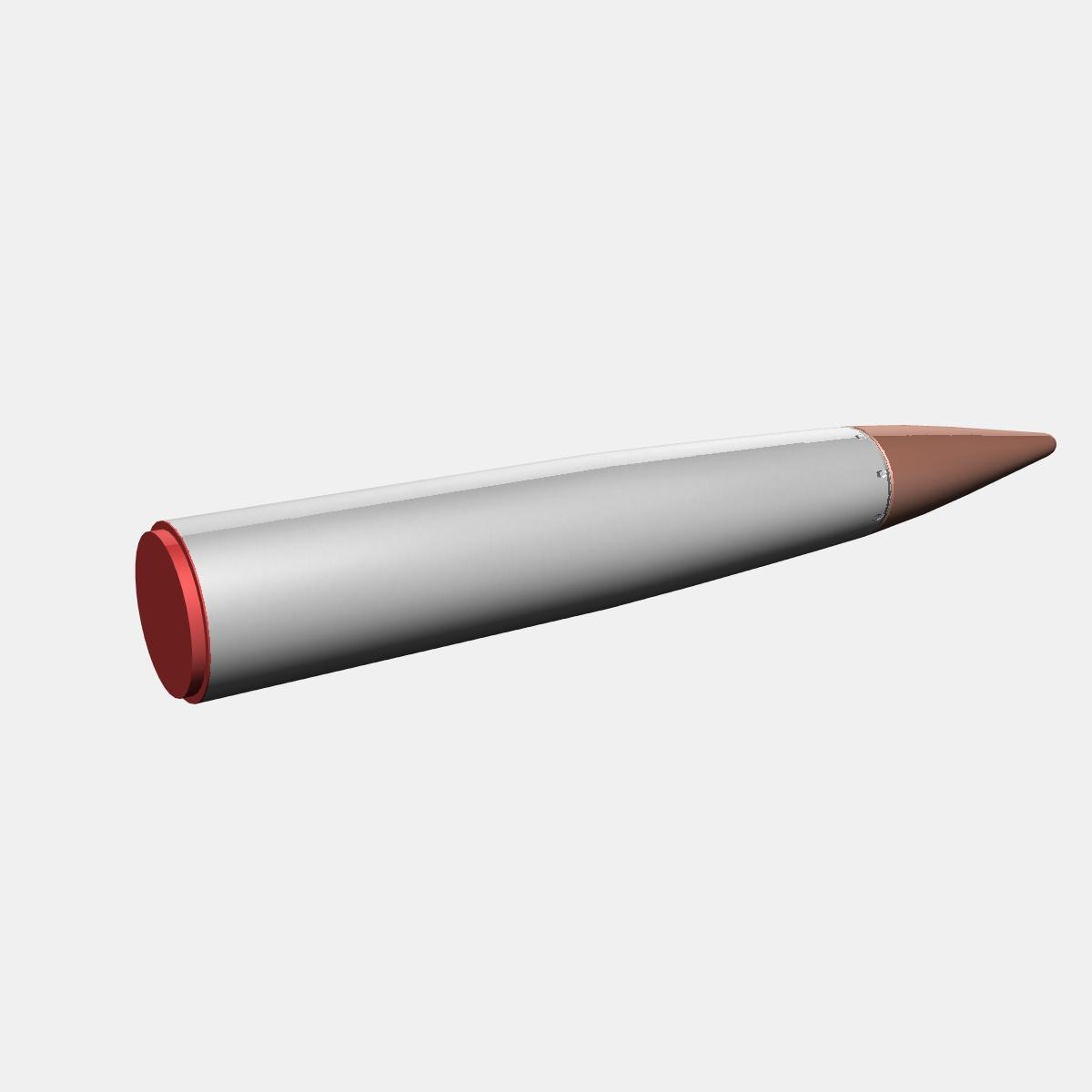 Japanese MT-135 Rocket 3d model 3ds dxf fbx blend cob dae X  obj 158754