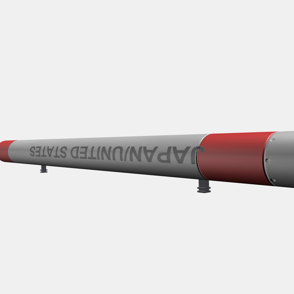 Japanese MT-135 Rocket 3d model 3ds dxf fbx blend cob dae X  obj 158756