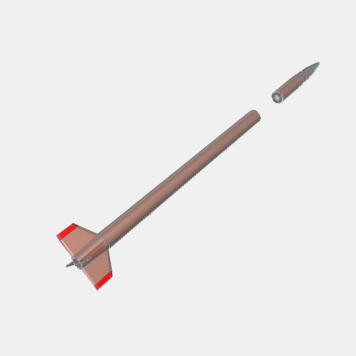 Japanese MT-135 Rocket 3d model 3ds dxf fbx blend cob dae X  obj 158759