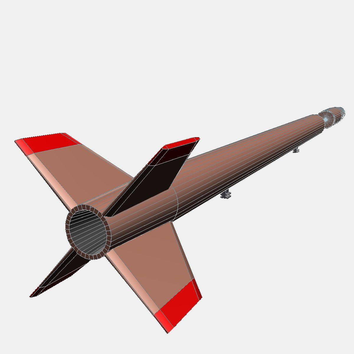 Japanese MT-135 Rocket 3d model 3ds dxf fbx blend cob dae X  obj 158760