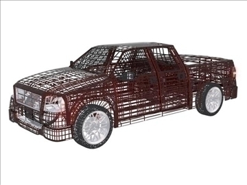 Ford F  Super Crew Cab Truck D Model Max