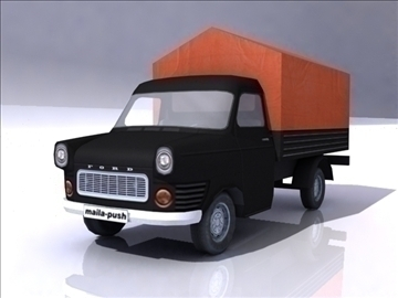 ford transit_black 3d загвар 3ds max obj 108410