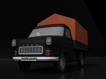 ford transit_black 3d model 3ds max obj 108414