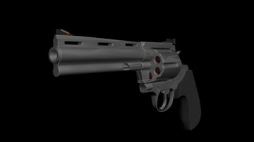colt anaconda .44mum magnum 3d model 3ds max obj 110291