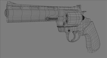 colt anaconda .44 magnum 3d model 3ds max obj 110295