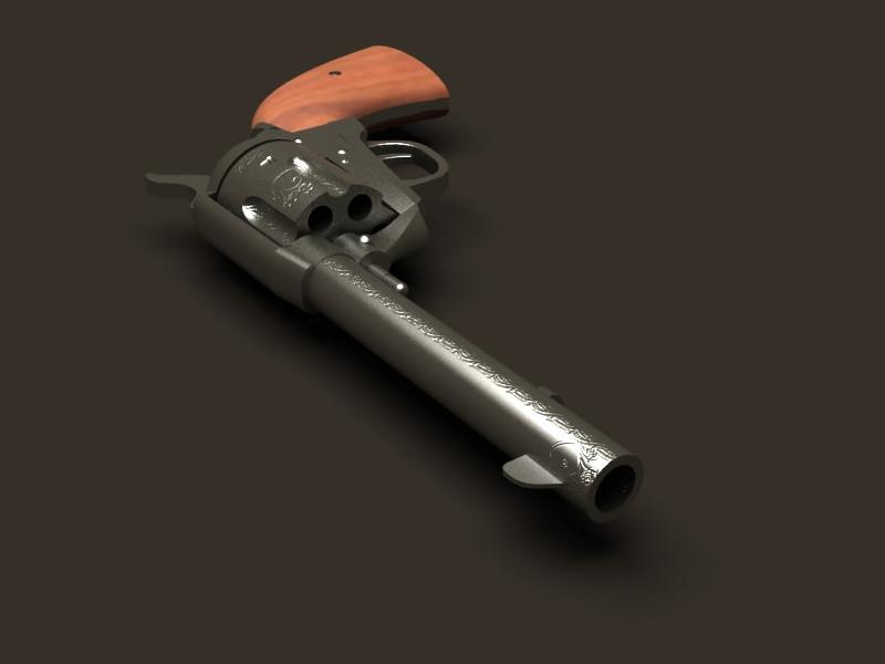 colt revolver 3d model 3ds max fbx obj 147026
