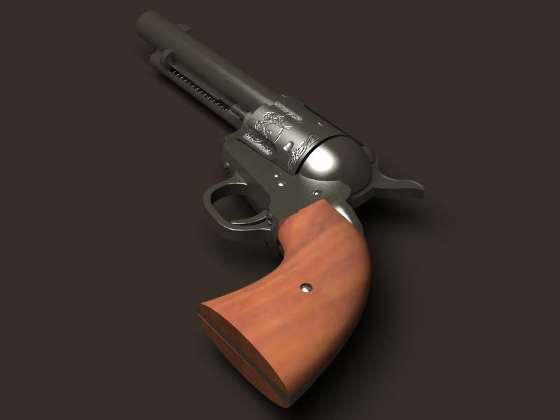colt revolver 3d model 3ds max fbx obj 147028