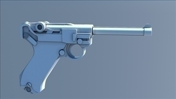 ik rigged german luger 3d model max 111001