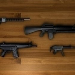 Low Poly Military Guns ( 64.55KB jpg by matttrout )