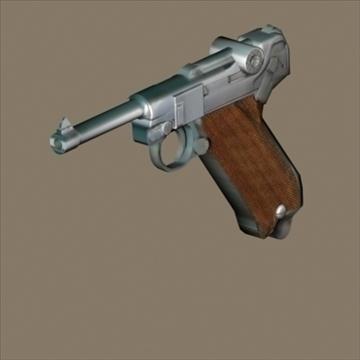Luger 3d model 3ds max 80719