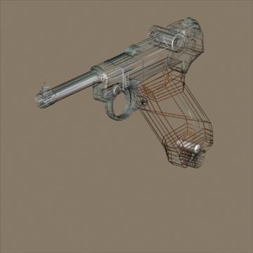 Luger 3d model 3ds max 80720