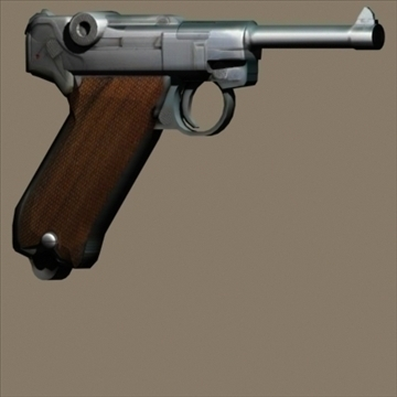 Luger 3d model 3ds max 80721